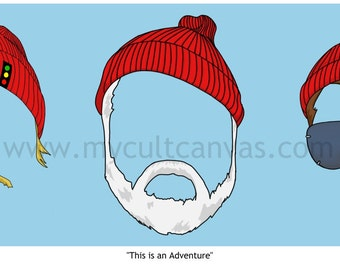 """Original """"This is an Adventure"""" Art Print Poster by Phil Gibson Wes Anderson The Life Aquatic Steve Zissou"""