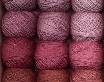 Notions: Valdani As Time Goes By 1 Set/ 12 - 3 Strand Floss Hand Dyed Colorfast