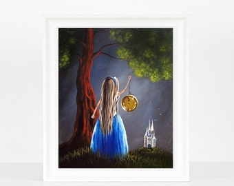 Stroke Of Midnight - Cinderella Art - Fairy Tale Prints - Girl's Room Decor - Bedroom Art - Home Decor Accents - Limited Editions