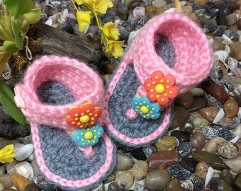 Crochet Blossom Baby sandals