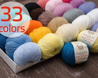Baby cotton yarn Crochet yarn Soft cotton yarn Knitting supplies Quality yarn Crochet cotton yarn Knit yarn Baby clothes Baby yarn 50g ball