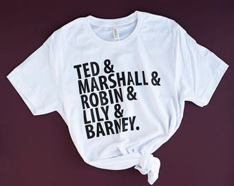 "White T-Shirt ""How I Met Your Mother"" inspired tv Shirt HIMYM tv show Tee Shirt bro code tshirt how I met your mother tv show gift"
