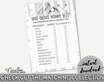 Who Knows Mommy Best Baby Shower Who Knows Mommy Best Adventure Mountain Baby Shower Who Knows Mommy Best Gray White Baby Shower S67CJ
