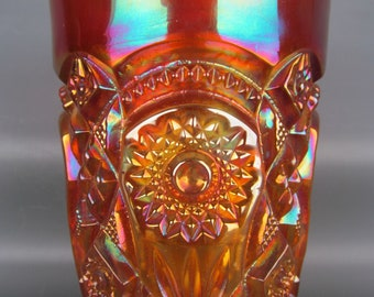 Imperial Carnival Glass - FASHION Antique Unmarked Marigold Tumbler