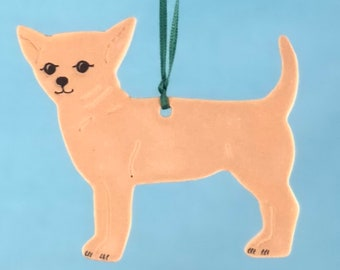 Chihuahua- Porcelain Ornament