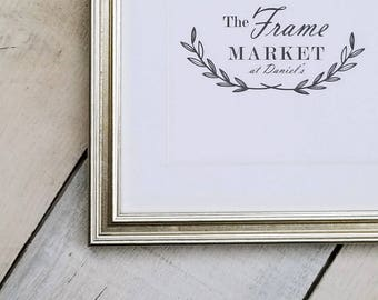 Plein Air Silver 5/8'' Wood Picture Frame with White Mat 8x10, 9x12, 11x14, 14x16, 16x20 Custom Standard and custom sizes available.