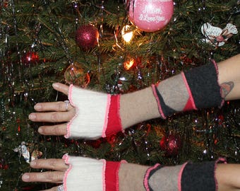Beautiful Handcrafted Arm Warmers Created From Upcycled Repurposed Recycled Sweaters