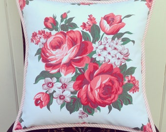 """vintage roses pillow cover 14"""""""