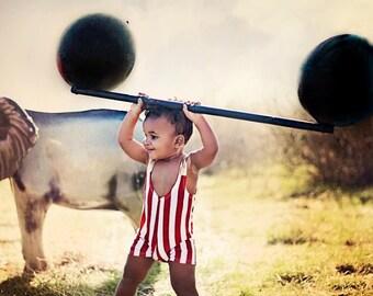 Strongman Costume for Little Children Dark Red