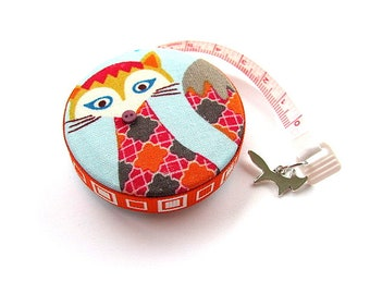 Tape Measure Pattern Foxes Retractable Measuring Tape