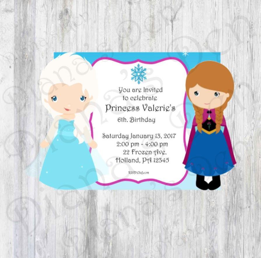 Elsa Invitation/Elsa Birthday Party/Elsa Invite/Elsa