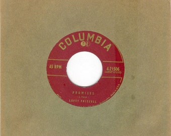 Lefty Frizzell 45rpm Promises b/w Today is That Tomorrow