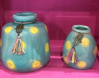 Spotted Ceramic Vase Set