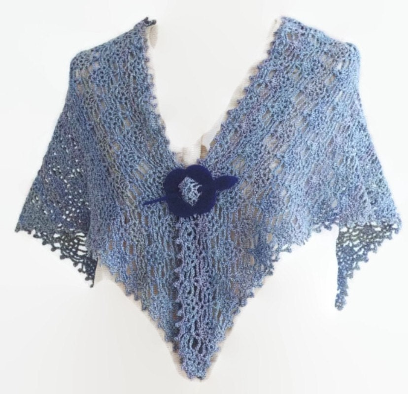 Pattern Crochet Summer Lace shawl, Easy Crochet Shawl, Wrap Tutorial ...