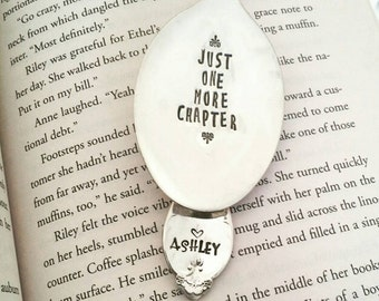 Bookmark, Just One More Chapter, Gift for Book Lover, Gift for Reader