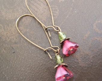 Feminine Czech Flower Dangles