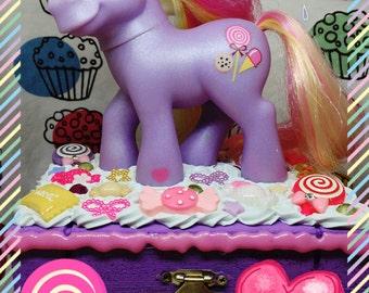 Mein kleines Pony Decoden Schmuck Box Triple behandeln Lollipop Candy Schmuckstück Andenken Make-up Geschenk Mädchen Frauen Spielzeug Sammler Kawaii Decora