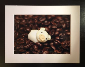 Pigging out on Coffee Photo Art