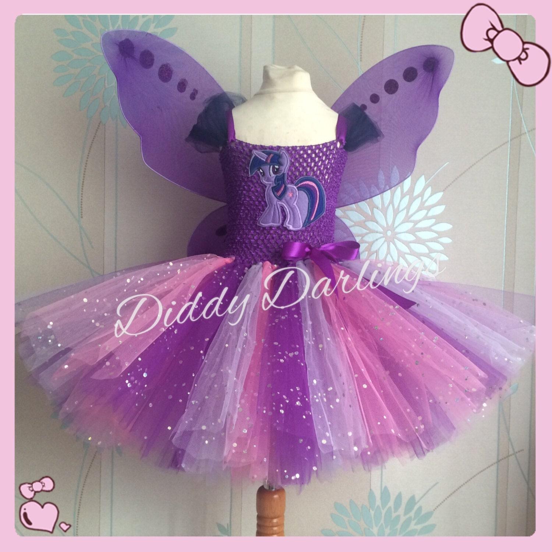 Brillante Twilight Sparkle vestido tutú. Inspira todo hecho a