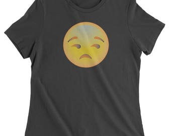Color Emoticon - Sad Face Smile Womens T-shirt