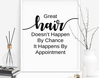 Salon Decor, Hair Salon Decor, Hair Salon Wall Art, Hairdresser Gift, Hairstylist Gift, Hair Salon, Hair Wall Art, Hair Print, Hair Quote
