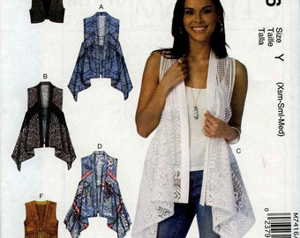 McCall's M7416 Size Y (Xsm-Sml-Med)