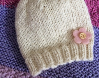 Beautiful soft baby alpaca hat/ beanie new baby gift
