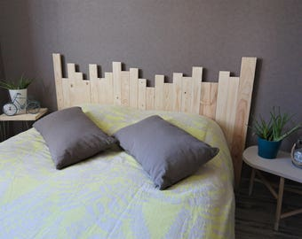 "Bed head ""Style seaside"" sleeping 140 straight wooden"
