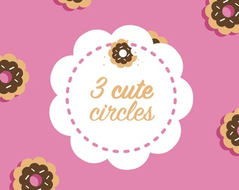 Clip Art Digital Frame Cute Scallop Circles Vector Ai Included Commercial Use SALE