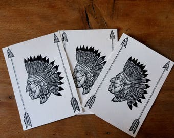 Map illustration Indian Chief