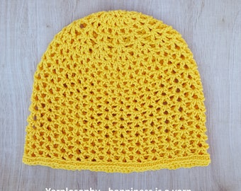 Summer crochet hat pattern all sizes from newborn to adult