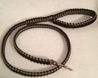2, 4 or 6-ft Paracord Leash - Black and Tan