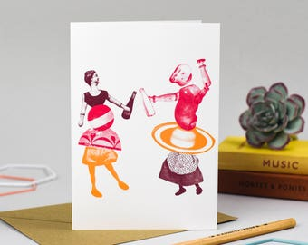 Dancing Couple Card