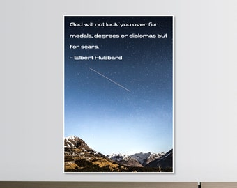 Faith Quote Poster Print Elbert Hubbard Blue Night Mountains Durango Wall Art PID 34935