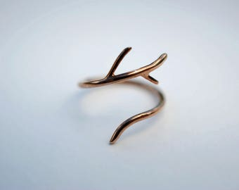 Outward Branch Rose Gold Roots Ring