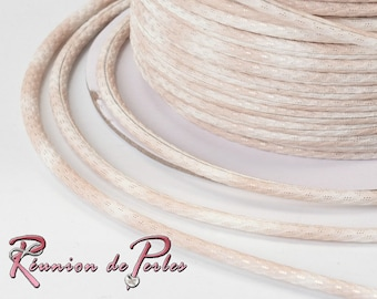 1 meter of round leather 3 mm cord