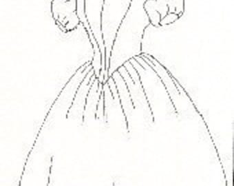 PI430 - 1860's Evening Dress Sewing Pattern by Period Impressions
