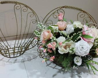 Vintage Wire Flower Baskets (2)