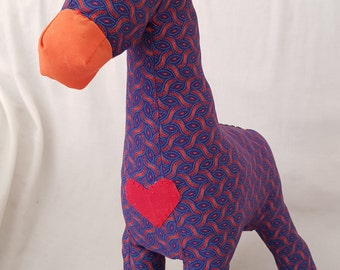 giraffe, soft toy, shweshwe, african animal, toy, toys, handcrafted, children, gifts, UthandoLove, stuffed toy animal