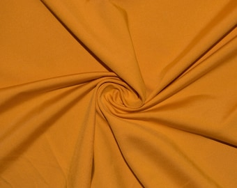 "Gold #43 Swimwear Activewear 4 Way Stretch Nylon Spandex Lycra Solid Apparel Cosplay Craft Fabric 56""-58"" Wide By The Yard"