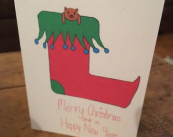 Stocking Christmas Card