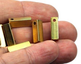 square stamping bar 5 pcs Raw Brass 5x15mm sbl15 1719