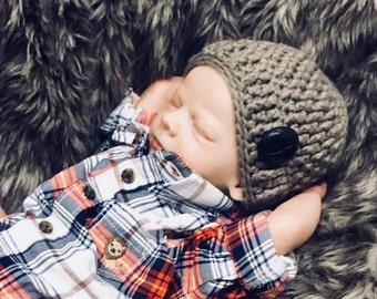 Crochet Pattern, Crochet Baby Hat Pattern, Crochet Hat Pattern for Boys, Baby Boy Hat Patterns, Newborn Crochet Patterns for Boys