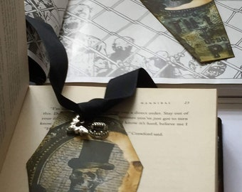 Coffin shaped paper bookmark
