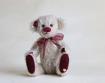 Petal OOAK collectible mohair bear