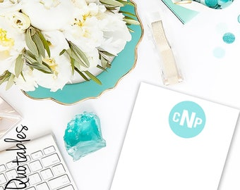 Custom Printable/Digital Monogram Note Cards (5x7)