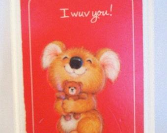 Vintage Koala Plaque, Hallmark 1982, Great Valentine Gift!