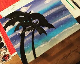 Sunny beach painting