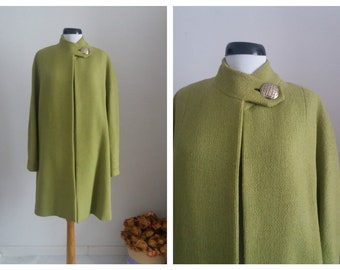 Vintage 1950s wool coat   50s wool coat   green wool 50s coat