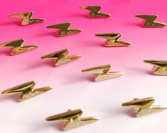 All Was Well Lightning Bolt enamel lapel pin | cute hat badge wizard magic
